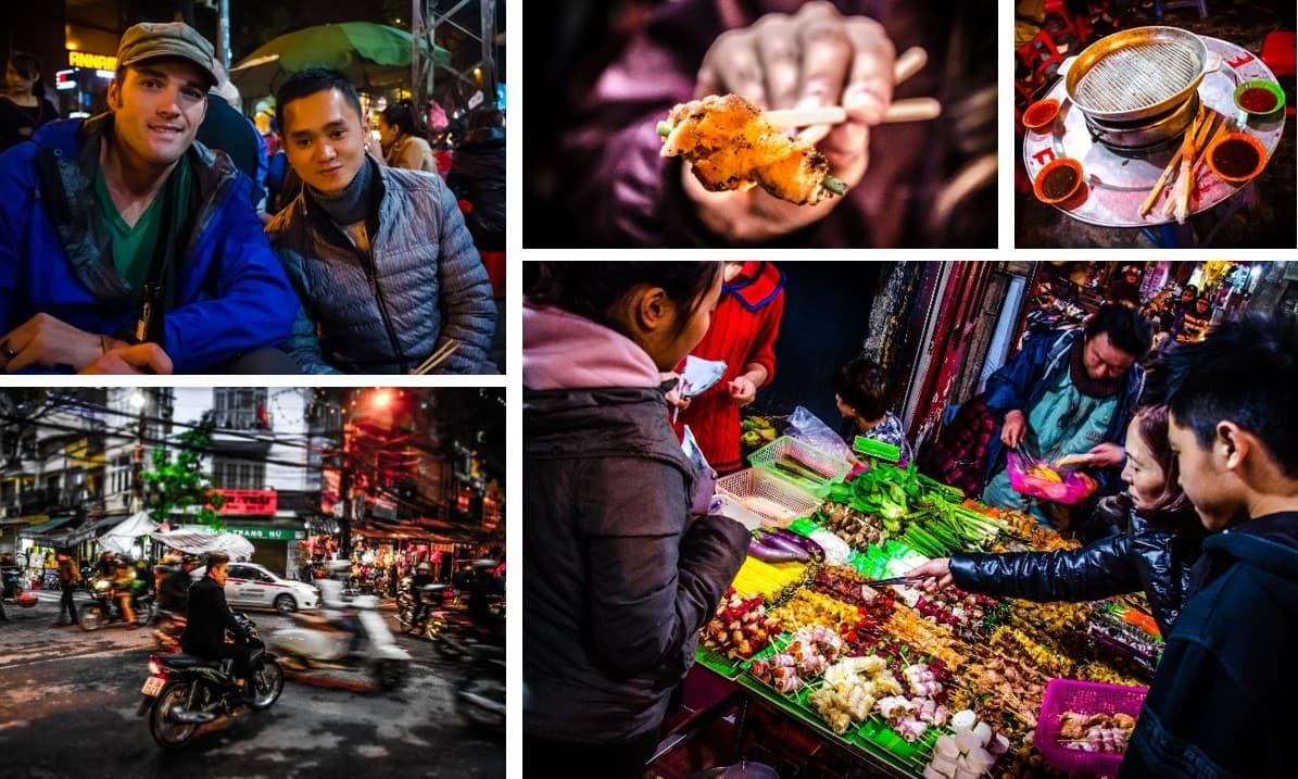 hanoi motorbike tour with night lights and foods