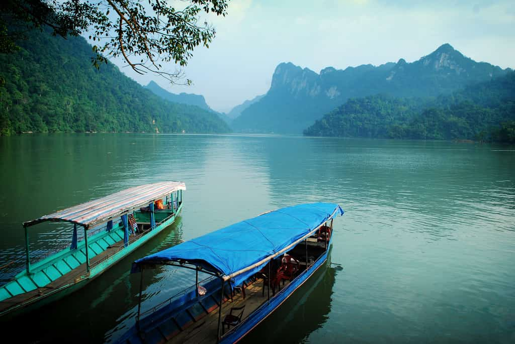 Image result for boat trip ba be lake